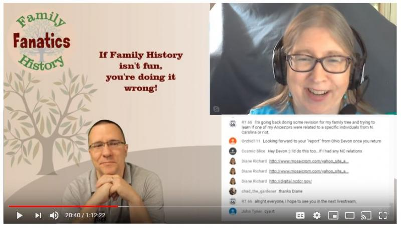Family History Fanatics Program with Andy Lee and Diane L Richard