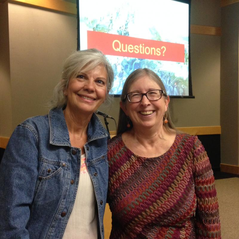 Greensboro Library (Apr 2016) -- Attendee Betty Van & You Know Who!
