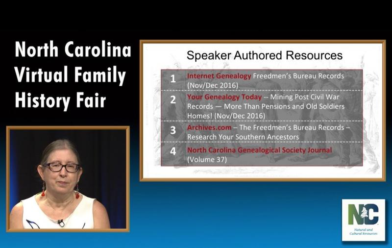 North Carolina Virtual Family History Fair (Oct 2016)